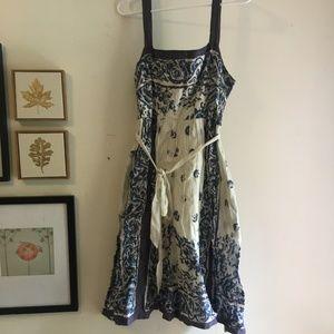 Anthropologie Maeve Belted Cocktail Dress